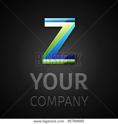 abstract vector logo letter Z