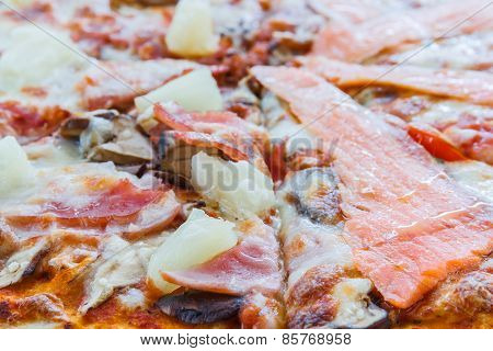 Pizza Hawaiian And Salmon Pizza