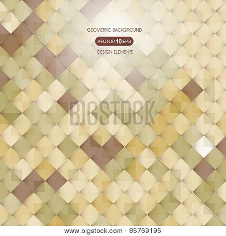 Abstract beige background with elements of geometry, square