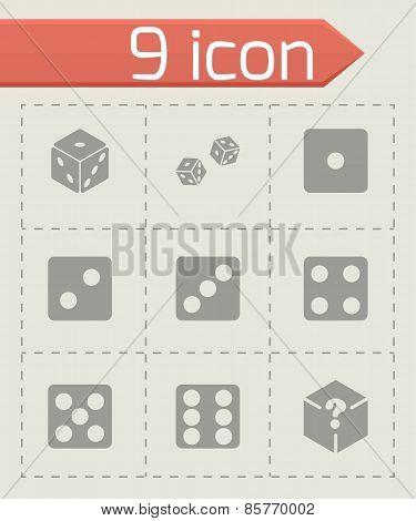 Vector dice icon set
