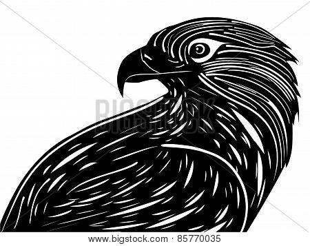 Lino-cut style Eagle