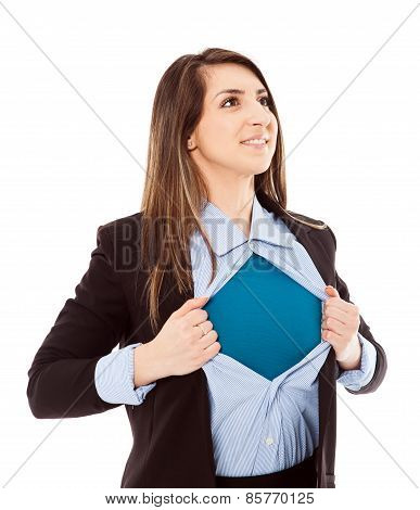 Businesswoman With Superhero Attitude