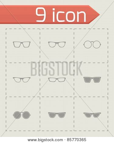 Vector glasses icon set