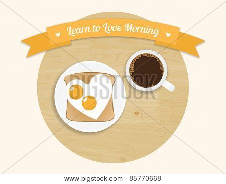 Morning breakfast round icon