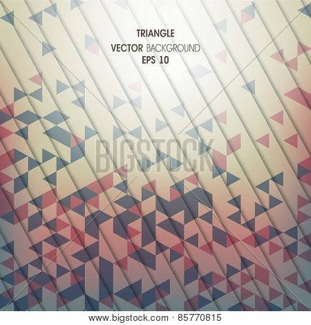 Abstract vector background with geometric elements of the triang