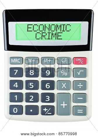Calculator With Economic Crime