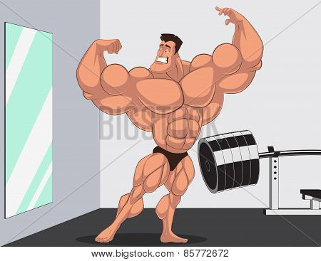 Caricature bodybuilder