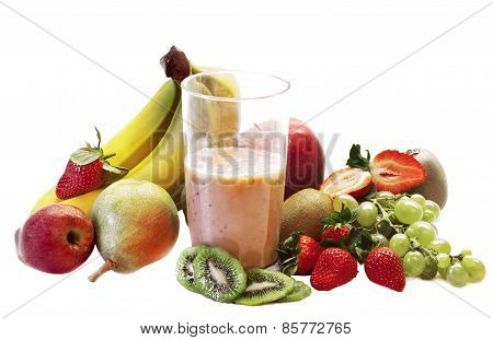 Milk Shake With Fruits Selection