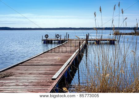 Dock For Pleasure And Fishing Boats