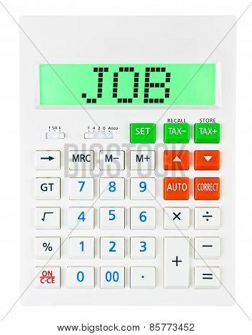 Calculator With Job