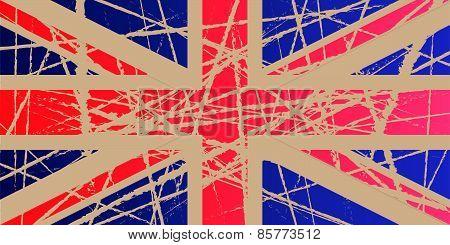 Weathered Flag of UK