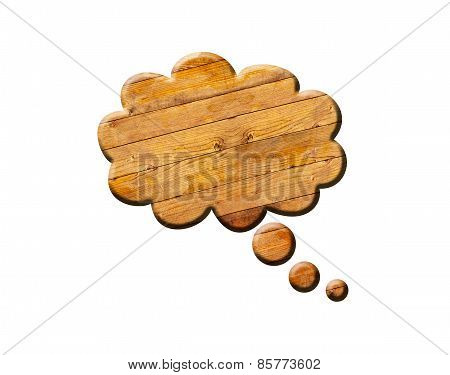 Wooden Speech Bubble