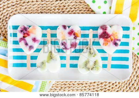 Homemade Frozen Popsicles