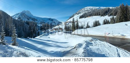 Winter Mountain Country Panorama (austria).