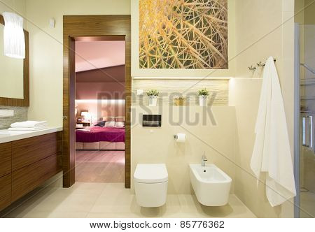 Romantic Bedroom With Private Bathroom
