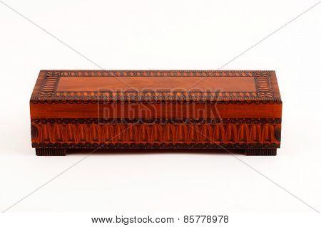 Wooden decorative casket - closed