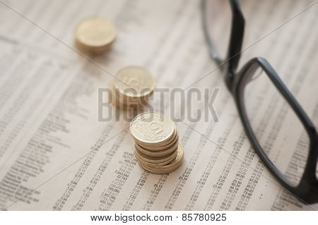 Coins And Eyeglasses