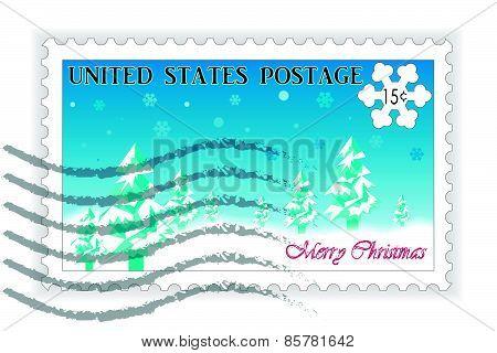 American Postage Stamp Christmas