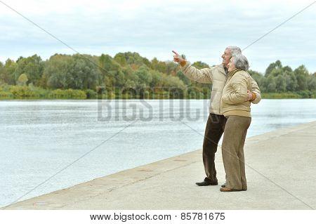 couple near lake