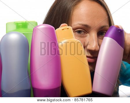 Woman Choosing Shampoo