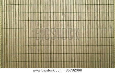 Bamboo mat as abstract background
