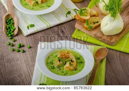 Spring Peas Soup