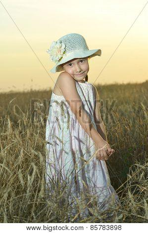 little standing girl