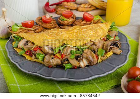 Vegetarian Omelet, Eat Clean