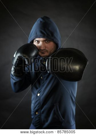 Man Exercising Boxing