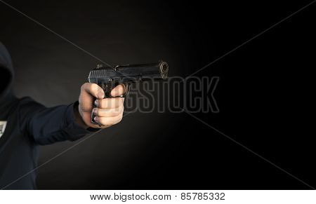 Killer Shooting A Gun