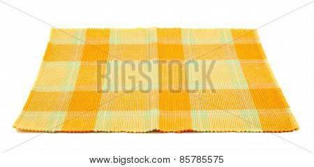 Cloth fabric serving mat isolated