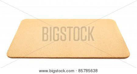 Cork serving mat isolated