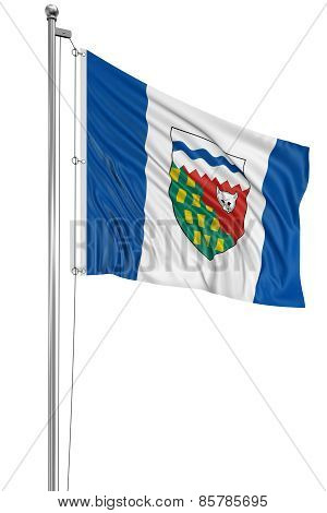 3D Northwest Territories  Flag