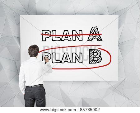 Businessman Drawing Plan B