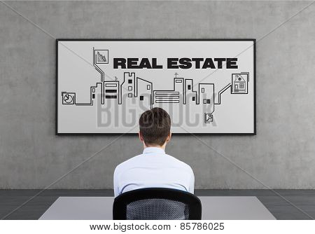 Real Estate Scheme On Desk