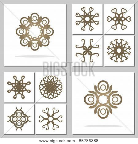 Collection Of Abstract Round Ornaments