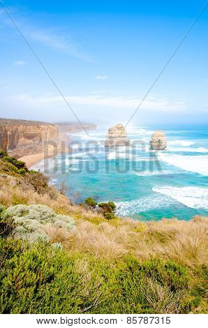 The Twelve Apostles  By The Great Ocean Road In Victoria, Australia