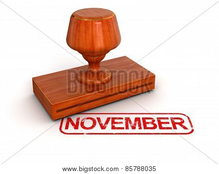 Rubber Stamp November (clipping path included)