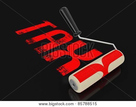 Paint roller with Tax (clipping path included)