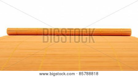 Rolled straw mat