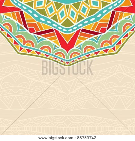 Background With African Ornament