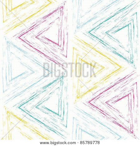 Colored Charcoal Triangles Seamless Background