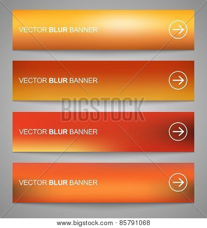 Set Of Vector Banners Blurry