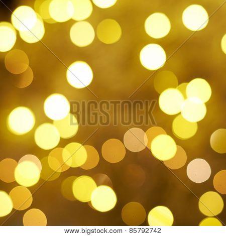 Yellow bokeh lighs