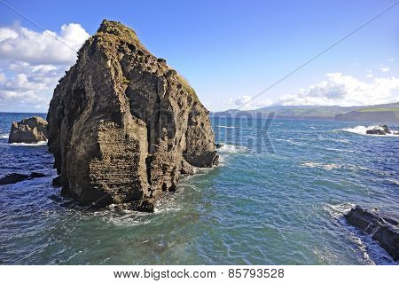 Off the coast. Island of San Miguel, Azores