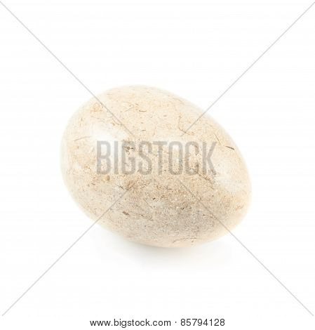 Egg made of stone isolated