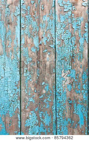 Wooden Background With Peeling Paint