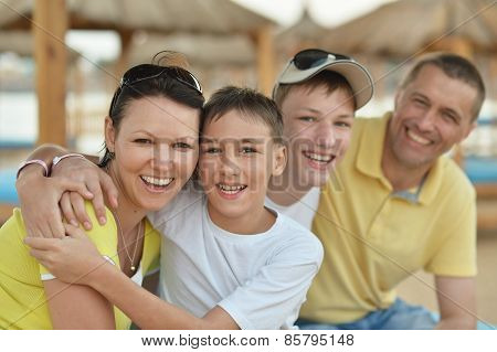 Happy Family relaxing
