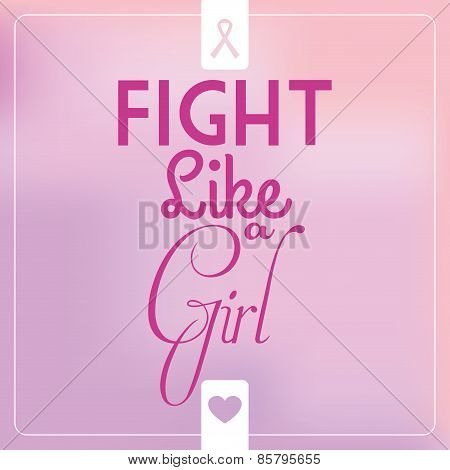 a pink background with a white silhouette with a breast cancer symbol and text