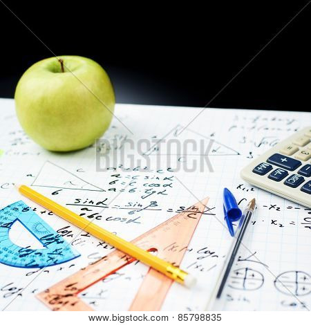 Studying math, back to school composition